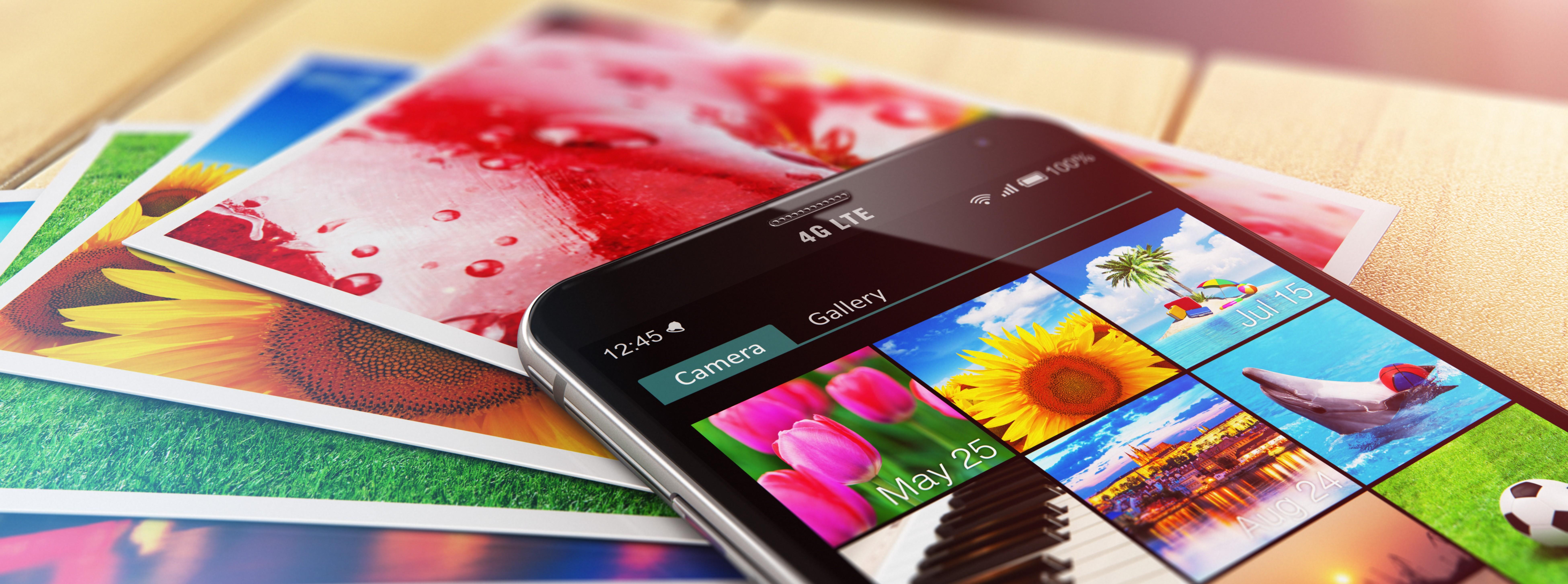 Tirage photo numérique d'après smartphone, clé usb, ordinateur, carte mémoire